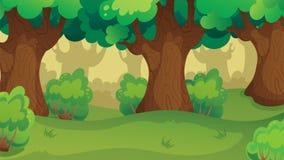 Jogo Forest Oakwood Landscape Fotografia de Stock Royalty Free