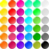 Jogo grande de teclas redondas Foto de Stock