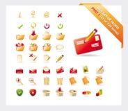 Jogo grande dos ícones: A PARTE 1 - veja as partes 2 e 3 Fotografia de Stock
