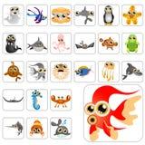 Jogo grande dos animais dos desenhos animados Imagem de Stock
