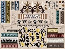 Jogo grego do vetor da natureza - fundos & elementos dos quadros das beiras ilustração royalty free