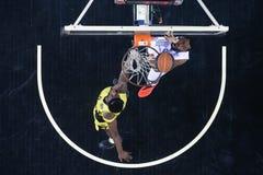 Jogo grego Paok da liga da cesta contra Aris Fotografia de Stock
