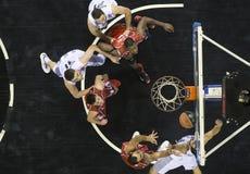 Jogo grego Paok da liga da cesta contra Kifisia foto de stock royalty free