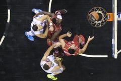 Jogo grego Paok da liga da cesta contra Kifisia Fotos de Stock