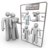 Jogo imediato do modelo da família Imagens de Stock