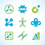 Jogo industrial abstrato do logotipo do vetor Fotografia de Stock