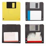 Jogo isolado dos discos flexíveis Imagem de Stock Royalty Free