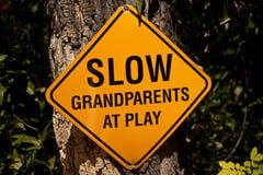 Jogo lento de Grendparents @ Imagem de Stock Royalty Free