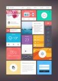 Jogo liso do ui para o design web responsivo Fotografia de Stock