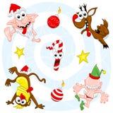 Jogo louco do Natal Fotos de Stock