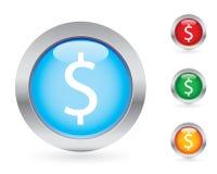 Jogo lustroso da tecla do dinheiro ilustração royalty free