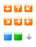 Jogo lustroso do ícone das setas Imagem de Stock