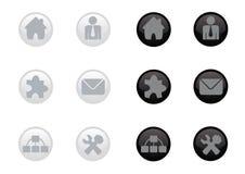 Jogo lustroso do ícone do Web ilustração stock