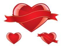 Jogo lustroso do coração ilustração do vetor