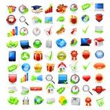 Jogo lustroso grande do ícone Imagem de Stock