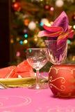 Jogo luxuoso da tabela de um jantar Foto de Stock