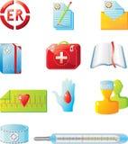 Jogo médico do ícone Foto de Stock