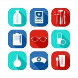 Jogo médico do ícone Fotografia de Stock