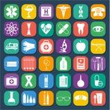 Jogo médico do ícone Fotos de Stock Royalty Free