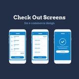 Jogo móvel do App Wireframe Ui Wireframe detalhado para a criação de protótipos rápida ilustração do vetor