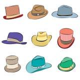 Jogo masculino do ícone do chapéu Fotos de Stock Royalty Free