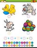 Jogo matemático para crianças Imagens de Stock Royalty Free