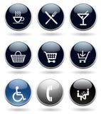 Jogo moderno do ícone Imagem de Stock