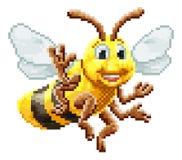 Jogo mordido Art Cartoon Character do pixel de Honey Bee 8 ilustração stock