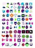 Jogo muito grande de logotipos do vetor Fotografia de Stock Royalty Free