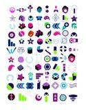 Jogo muito grande de logotipos do vetor Fotografia de Stock