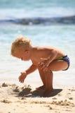 Jogo na areia Foto de Stock Royalty Free