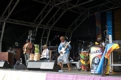 Jogo na mostra do país de Lambeth, Londres de Osibisa, Reino Unido imagem de stock royalty free