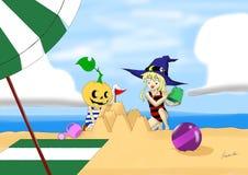 Jogo na praia Fotos de Stock Royalty Free