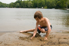 Jogo na praia fotografia de stock royalty free