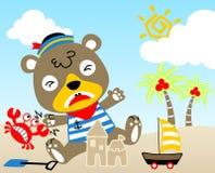 Jogo na praia ilustração do vetor