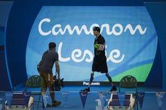 Jogo nadador do jogo 2016 de Brasil - de Rio De janeiro - de Paralympic Foto de Stock