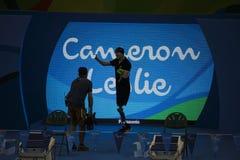 Jogo nadador do jogo 2016 de Brasil - de Rio De janeiro - de Paralympic Imagens de Stock Royalty Free