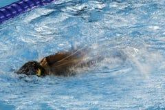 Jogo nadador do jogo 2016 de Brasil - de Rio De janeiro - de Paralympic Imagem de Stock Royalty Free