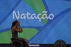 Jogo nadador do jogo 2016 de Brasil - de Rio De janeiro - de Paralympic Fotos de Stock Royalty Free