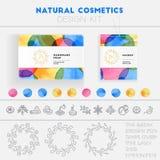 Jogo natural do projeto dos cosméticos Imagem de Stock