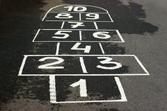Jogo no asfalto Fotografia de Stock Royalty Free