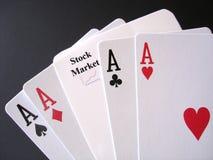 Jogo no mercado de valores de acção Fotografia de Stock