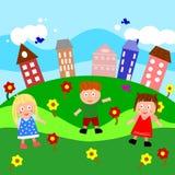 Jogo nos subúrbios Ilustração do Vetor