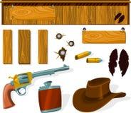 Jogo ocidental ilustração stock