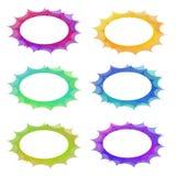 Jogo oval do frame do abstrakt Imagem de Stock Royalty Free