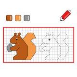 Jogo para crianças, o esquilo Imagem de Stock Royalty Free