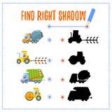 Jogo pré-escolar com veículos e sombras Fotografia de Stock