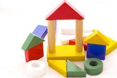 Jogo pré-escolar da madeira da construção Fotografia de Stock