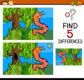 Jogo pré-escolar das diferenças ilustração do vetor