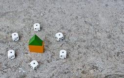 Jogo real do risco Foto de Stock Royalty Free